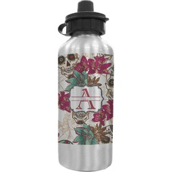 Sugar Skulls & Flowers Water Bottle (Personalized)