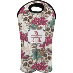 Sugar Skulls & Flowers Wine Tote Bag (2 Bottles) (Personalized)