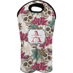 Sugar Skulls & Flowers Wine Tote Bag (2 Bottles) (Personalized)