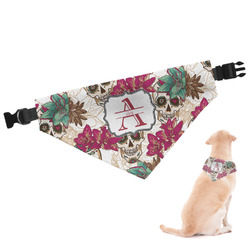 Sugar Skulls & Flowers Dog Bandana (Personalized)