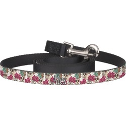 Sugar Skulls & Flowers Pet / Dog Leash (Personalized)