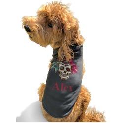 Sugar Skulls & Flowers Black Pet Shirt - Multiple Sizes (Personalized)