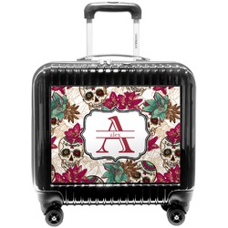 Sugar Skulls & Flowers Pilot / Flight Suitcase (Personalized)