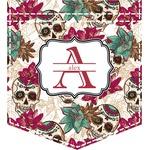 Sugar Skulls & Flowers Iron On Faux Pocket (Personalized)