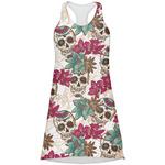 Sugar Skulls & Flowers Racerback Dress (Personalized)