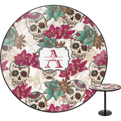 Sugar Skulls & Flowers Round Table (Personalized)