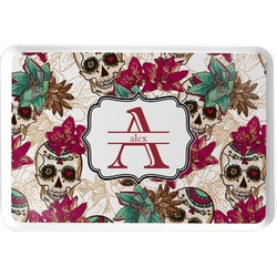 Sugar Skulls & Flowers Serving Tray (Personalized)