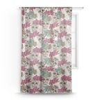 Sugar Skulls & Flowers Sheer Curtains (Personalized)