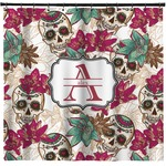 Sugar Skulls & Flowers Shower Curtain (Personalized)