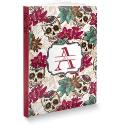 "Sugar Skulls & Flowers Softbound Notebook - 5.75"" x 8"" (Personalized)"