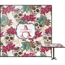 Sugar Skulls & Flowers Square Table Top (Personalized)