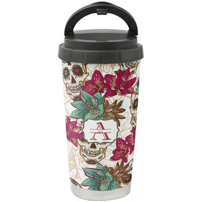 Sugar Skulls & Flowers Stainless Steel Coffee Tumbler (Personalized)