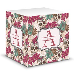 Sugar Skulls & Flowers Sticky Note Cube (Personalized)