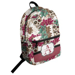 Sugar Skulls & Flowers Student Backpack (Personalized)