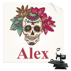 Sugar Skulls & Flowers Sublimation Transfer (Personalized)
