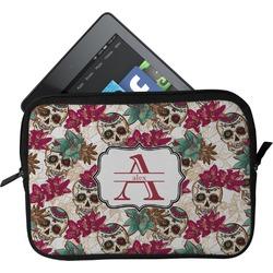 Sugar Skulls & Flowers Tablet Case / Sleeve (Personalized)