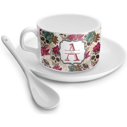 Sugar Skulls & Flowers Tea Cup (Personalized)