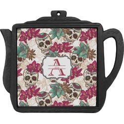 Sugar Skulls & Flowers Teapot Trivet (Personalized)