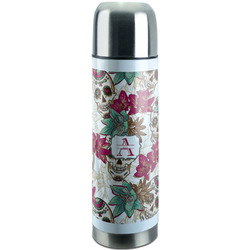 Sugar Skulls & Flowers Stainless Steel Thermos (Personalized)