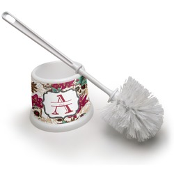 Sugar Skulls & Flowers Toilet Brush (Personalized)