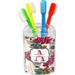 Sugar Skulls & Flowers Toothbrush Holder (Personalized)