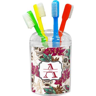 Sugar Skulls & Flowers Toothbrush Holder (Personalized)