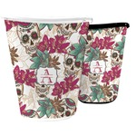 Sugar Skulls & Flowers Waste Basket (Personalized)