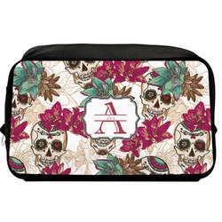 Sugar Skulls & Flowers Toiletry Bag / Dopp Kit (Personalized)