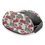 Sugar Skulls & Flowers Travel Neck Pillow