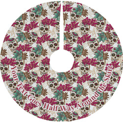Sugar Skulls & Flowers Tree Skirt (Personalized)