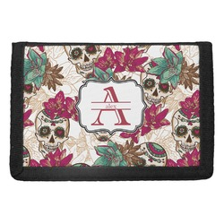 Sugar Skulls & Flowers Trifold Wallet (Personalized)