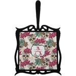 Sugar Skulls & Flowers Trivet with Handle (Personalized)