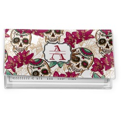 Sugar Skulls & Flowers Vinyl Checkbook Cover (Personalized)