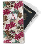 Sugar Skulls & Flowers Travel Document Holder