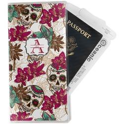 Sugar Skulls & Flowers Travel Document Holder