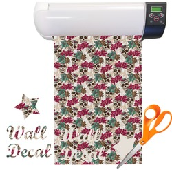 Sugar Skulls & Flowers Vinyl Sheet (Re-position-able)