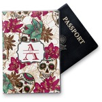 Sugar Skulls & Flowers Vinyl Passport Holder (Personalized)