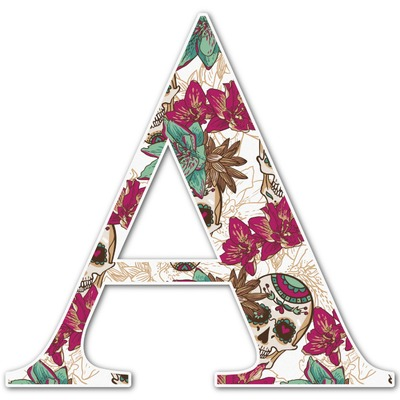 Sugar Skulls & Flowers Letter Decal - Custom Sizes (Personalized)