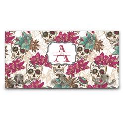 Sugar Skulls & Flowers Wall Mounted Coat Rack (Personalized)