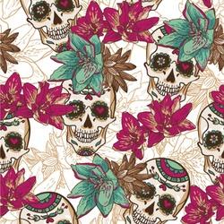Sugar Skulls & Flowers Wallpaper & Surface Covering