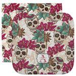 Sugar Skulls & Flowers Facecloth / Wash Cloth (Personalized)