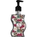Sugar Skulls & Flowers Wave Bottle Soap / Lotion Dispenser (Personalized)