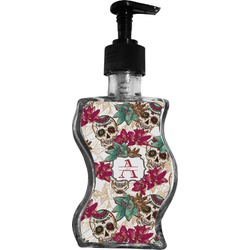 Sugar Skulls & Flowers Wave Bottle Soap / Lotion Dispenser (Personalized)