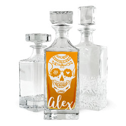Sugar Skulls & Flowers Whiskey Decanter (Personalized)