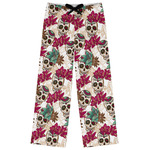 Sugar Skulls & Flowers Womens Pajama Pants (Personalized)