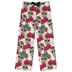 Sugar Skulls & Flowers Womens Pajama Pants (Personalized)