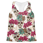 Sugar Skulls & Flowers Womens Racerback Tank Top (Personalized)