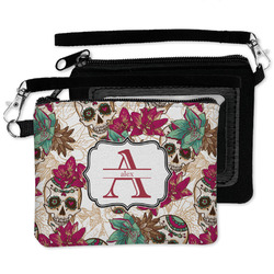 Sugar Skulls & Flowers Wristlet ID Case w/ Name and Initial