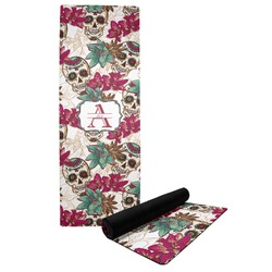Sugar Skulls & Flowers Yoga Mat (Personalized)