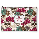 Sugar Skulls & Flowers Zipper Pouch (Personalized)